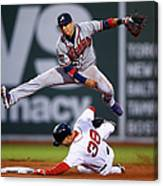 Grady Sizemore and Ramiro Pena Canvas Print