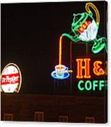 H and C Coffee Sign Roanoke Virginia Canvas Print