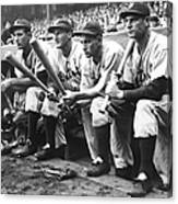 Hank Greenberg and Goose Goslin Canvas Print