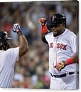 Hanley Ramirez and David Ortiz Canvas Print