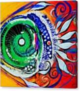 Happy Fish Compliments Transcending Time Canvas Print