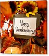 Happy Thanksgiving still life Canvas Print