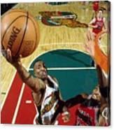 Hersey Hawkins and Scottie Pippen Canvas Print