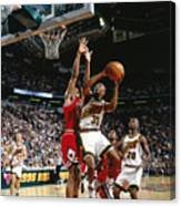 Hersey Hawkins and Scottie Pippen Canvas Print