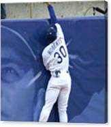 Hideo Nomo, Dave Roberts, and Barry Bonds Canvas Print