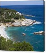 High Angle View Of Sea Against Clear Sky Canvas Print