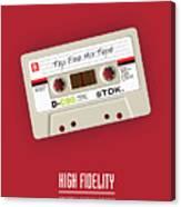 High Fidelity - Alternative Movie Poster Canvas Print