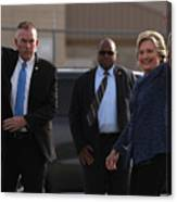 Hillary Clinton Holds Early Voting Rallies In Iowa Canvas Print