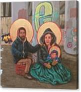 Holy Family of the Streets  Canvas Print