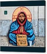 Homeless Christ Canvas Print