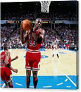 Horace Grant and Michael Jordan Canvas Print