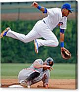 Hunter Pence and Addison Russell Canvas Print