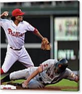 Hunter Pence and Freddy Galvis Canvas Print