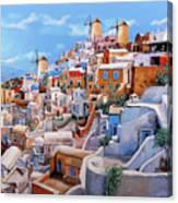 I colori di santorini   Canvas Print