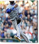 Ian Kinsler And Jose Reyes Canvas Print