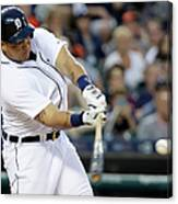 Ian Kinsler, Miguel Cabrera, and Anthony Gose Canvas Print