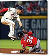 Jace Peterson and Bryce Harper Canvas Print
