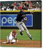 Jace Peterson and Chris Owings Canvas Print