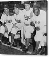 Jackie Robinson And Pee Wee Reese Canvas Print