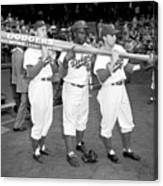 Jackie Robinson, Duke Snider, and Pee Wee Reese Canvas Print