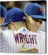Jacob Degrom And David Wright Canvas Print