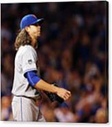 Jacob Degrom And Jorge Soler Canvas Print