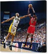 Jalen Rose and Michael Jordan Canvas Print