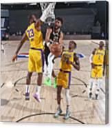 Jamal Murray and Lebron James Canvas Print