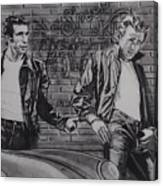 James Dean Meets The Fonz Canvas Print
