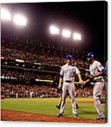 James Shields and Lorenzo Cain Canvas Print
