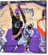 Javale Mcgee and Demarcus Cousins Canvas Print