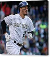 Jean Machi and Nolan Arenado Canvas Print