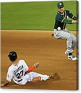 Jed Lowrie and Giancarlo Stanton Canvas Print