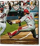 Jeff Blauser And Darren Daulton Canvas Print