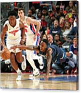 Jeff Teague and Stanley Johnson Canvas Print