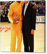 Jerry West and Kobe Bryant Canvas Print