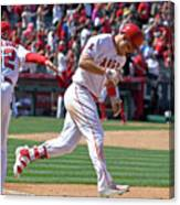 Jesus Feliciano And Mike Trout Canvas Print