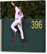 Jesus Montero and Mike Trout Canvas Print