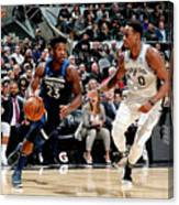 Jimmy Butler and Demar Derozan Canvas Print