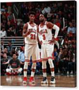 Jimmy Butler and Dwyane Wade Canvas Print