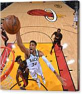 Jimmy Butler and Giannis Antetokounmpo Canvas Print
