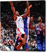 Jimmy Butler and Kyle Lowry Canvas Print