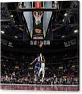 Jimmy Butler and Lebron James Canvas Print