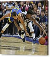 Jimmy Butler and Stephen Curry Canvas Print