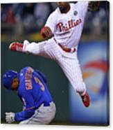 Jimmy Rollins and Curtis Granderson Canvas Print