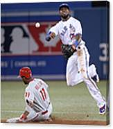 Jimmy Rollins and Jose Reyes Canvas Print