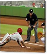 Jimmy Rollins and Nick Green Canvas Print