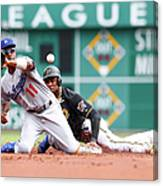 Jimmy Rollins And Starling Marte Canvas Print