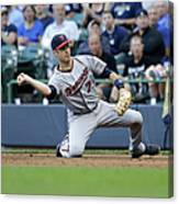 Joe Mauer and Lyle Overbay Canvas Print