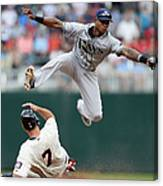 Joe Mauer and Tim Beckham Canvas Print